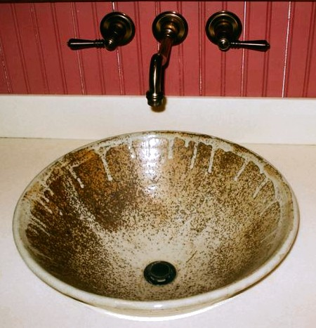 Sink at Elk Creek Vineyards: Handmade Pottery by Greg Seigel