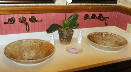 Sinks at Elk Creek Vineyards: Handmade Pottery by Greg Seigel