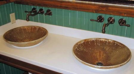 Sinks At Elk Creek Vineyards: Handmade Pottery By Greg Seigel