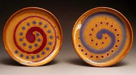 Small Red and Blue Plates Handmade Pottery by Greg Seigel & Small Red and Blue Plates: Handmade pottery by Greg Seigel of ...